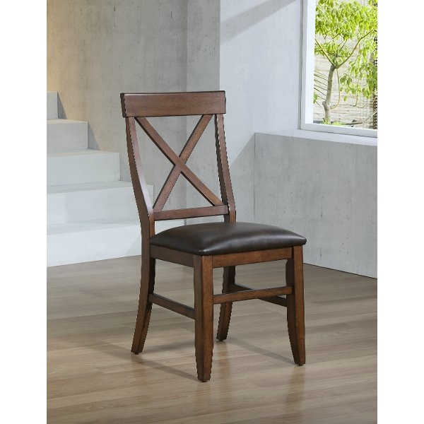 Clearance Brown Upholstered Table Chair Savannah
