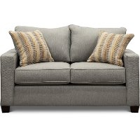 Contemporary Stone Gray Loveseat - Gavin