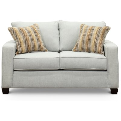 Contemporary Sky Gray Loveseat - Gavin