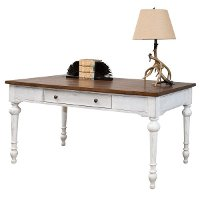 White and Cherry Brown Writing Desk - Durham