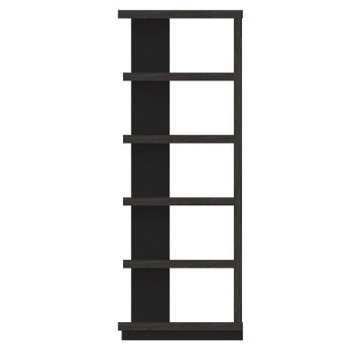 Modern Black Oak Bookcase - Wright