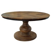 Brown Round Dining Table - Salamanca