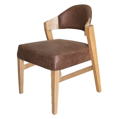 Modern Natural and Brown Dining Room Chair - Salamanca