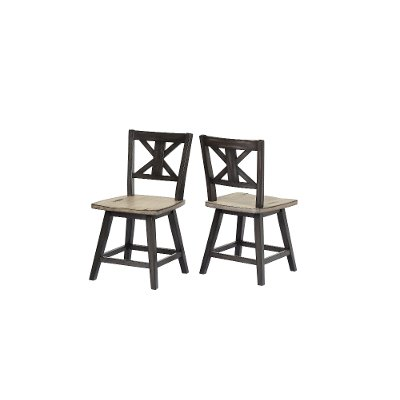 Sand and Black Swivel Dining Room Chair - Orlando