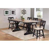 Farmhouse Sand and Black 5 Piece Dining Set - Orlando
