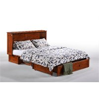 Classic Cherry Brown Queen Murphy Bed - Clover