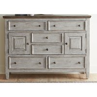Classic Country Antique White Chesser - Heartland
