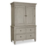 Classic Country Antique White Armoire - Heartland