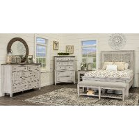 Antique White 4 Piece King Bedroom Set - Heartland