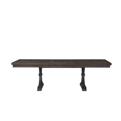 Industrial Gray/Brown Dining Room Table - Revolution