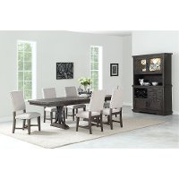 Industrial Gray/Brown 7 Piece Dining Set - Revolution