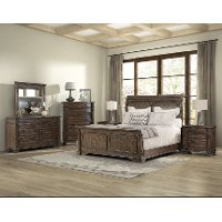 Hazelnut Brown 4 Piece Queen Bedroom Set - Tuscany Pointe