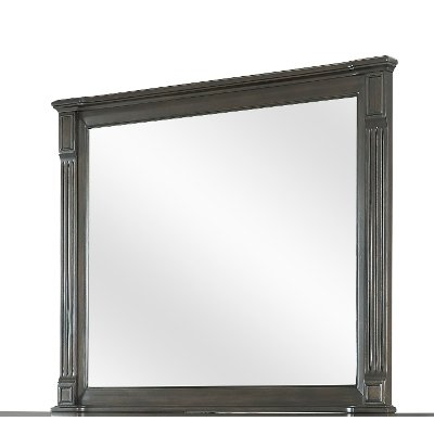 Traditional Walnut Brown Mirror - Valley View