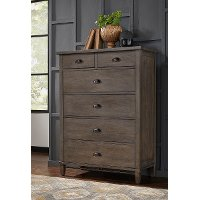 Classic Gray Chest of Drawers - Mount Holly