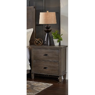 Classic Gray Nightstand - Mount Holly
