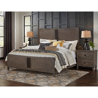 Classic Gray Queen Bed - Mount Holly
