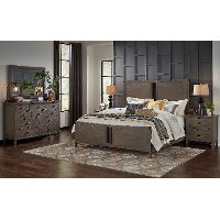 Classic Gray 4 Piece King Bedroom Set - Mount Holly