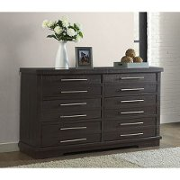 Contemporary Espresso Brown Dresser - Waterfront