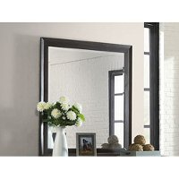 Contemporary Espresso Brown Mirror - Waterfront