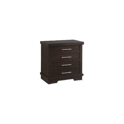 Contemporary Espresso Brown Nightstand - Waterfront