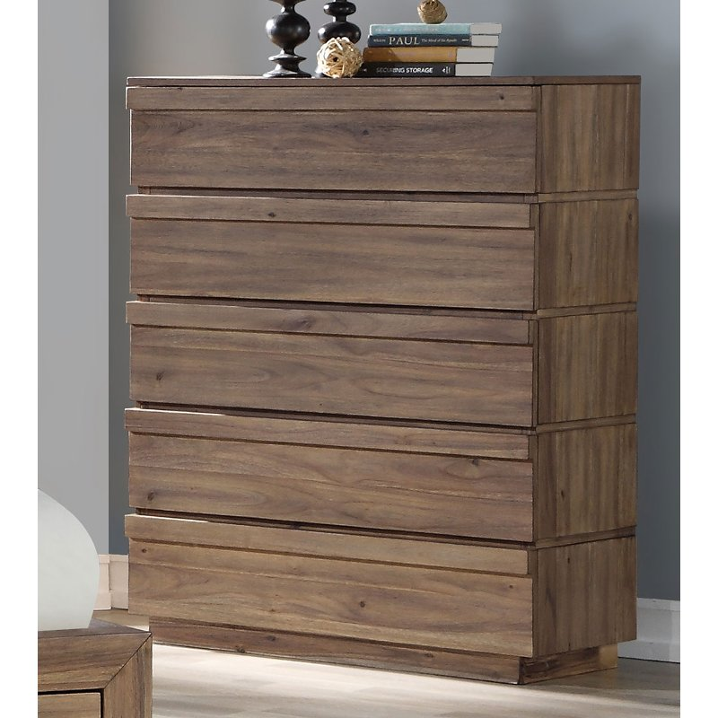 Modern Natural Acacia Chest Of Drawers Hayden