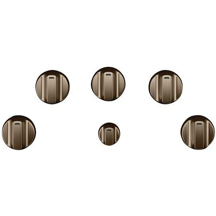 CXCE1HKPMBZ Café 5 Electric Cooktop Knobs in Brushed Bronze