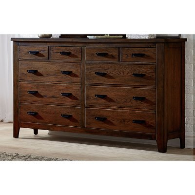 Classic Chestnut Brown Dresser - Country Roads