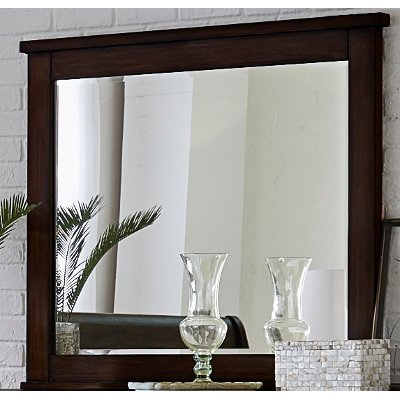 Classic Chestnut Brown Mirror - Country Roads