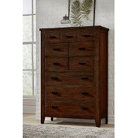 Classic Brown Chest of Drawers - Country Roads