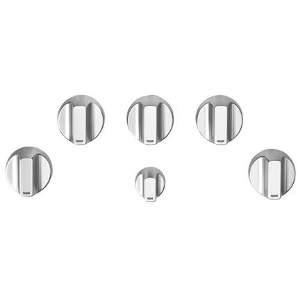 CXCG1K0PMSS Cafe 5 Gas Cooktop Knobs in Brushed Stainless Steel