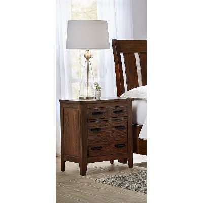 Classic Chestnut Brown Nightstand - Country Roads