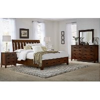 Classic Brown 4 Piece King Bedroom Set - Country Roads