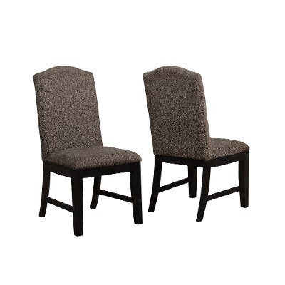 Black and Brown Upholstered Dining Chair - Mariella