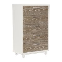 Modern White and Oak Chest of Drawers - Brampton