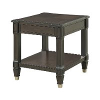 Transitional Walnut End Table - Valley View