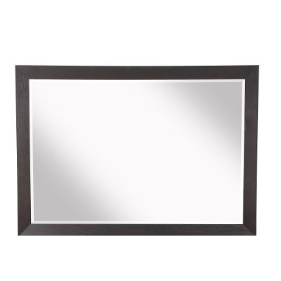 Modern Espresso Brown Beveled Mirror - Maddax