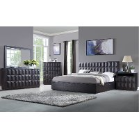 Modern Brown 4 Piece Queen Bedroom Set - Maddax