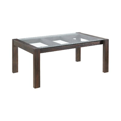 Contemporary Wood and Glass Dining Room Table - Marquee
