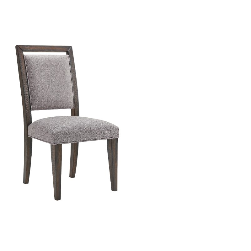 Contemporary Gray Upholstered Dining Room Chair Marquee