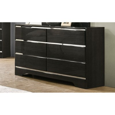 Modern Dark Brown Dresser - Chantal