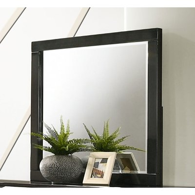 Modern Dark Brown Mirror - Chantal