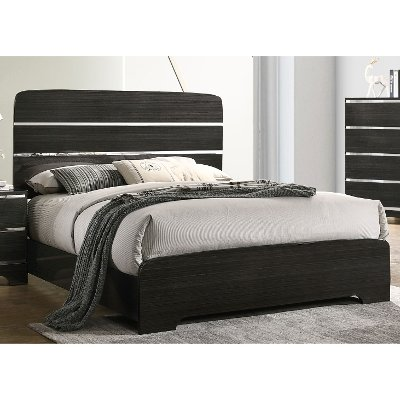 Modern Dark Brown King Bed - Chantal