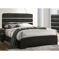 Modern Dark Brown Queen Bed - Chantal