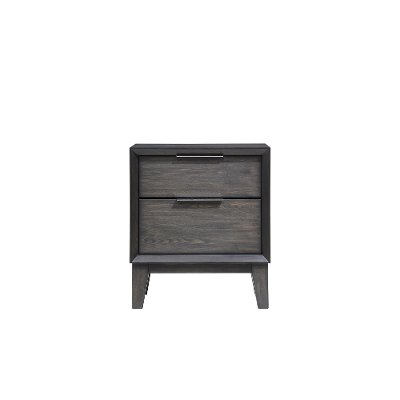 Contemporary Ash Gray Nightstand - Florian