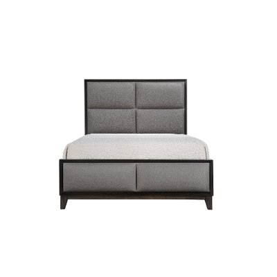Contemporary Ash Gray Queen Upholstered Bed - Florian