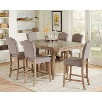 Brown and Gray 7 Piece Counter Height Dining Set - Keystone