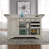 Antique White Bar Cabinet - Magnolia Manor