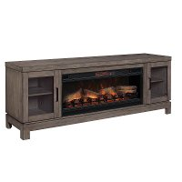 76 Inch Charcoal Brown Fireplace TV Stand - Berkeley