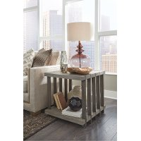Weathered Gray End Table - Eldridge