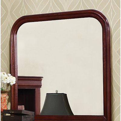 Classic Traditional Cherry Mirror - Bordeaux